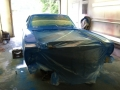 Front of car in blue paint sanding 092014
