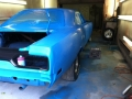 Passenger Side from rear in blue paint sanding 092014